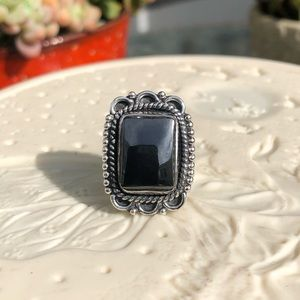 Hematite Sterling Silver Ring Sz 7